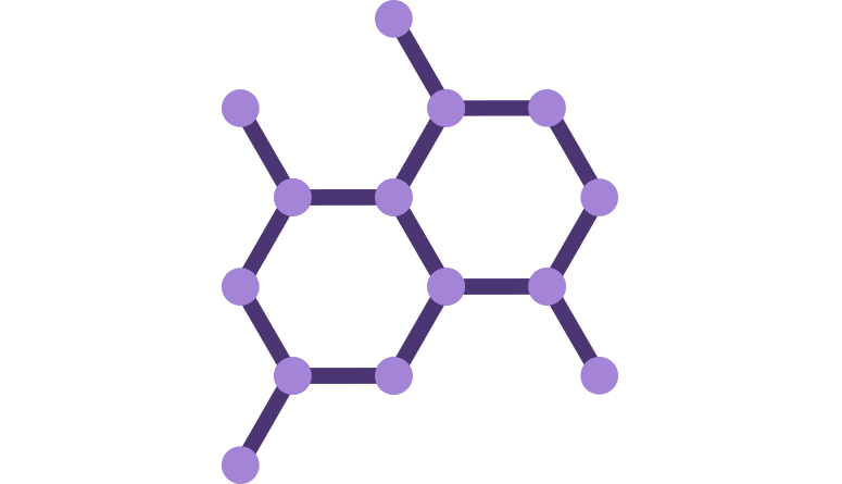 purple molecule hexagon structure