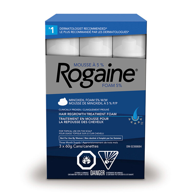 mens ROGAINE® foam pack shot