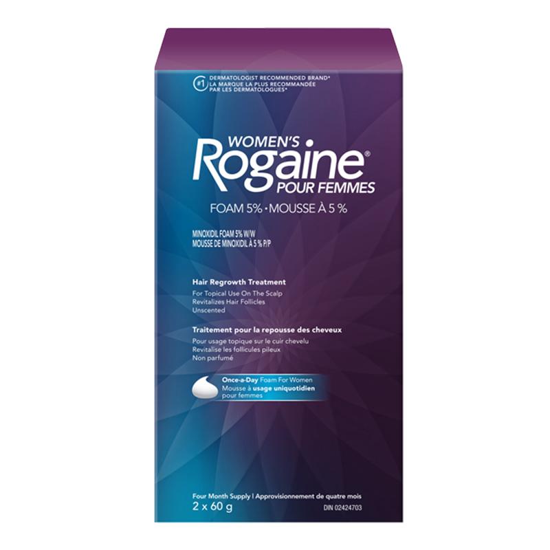 womens minoxidil hair growth foam pack shot