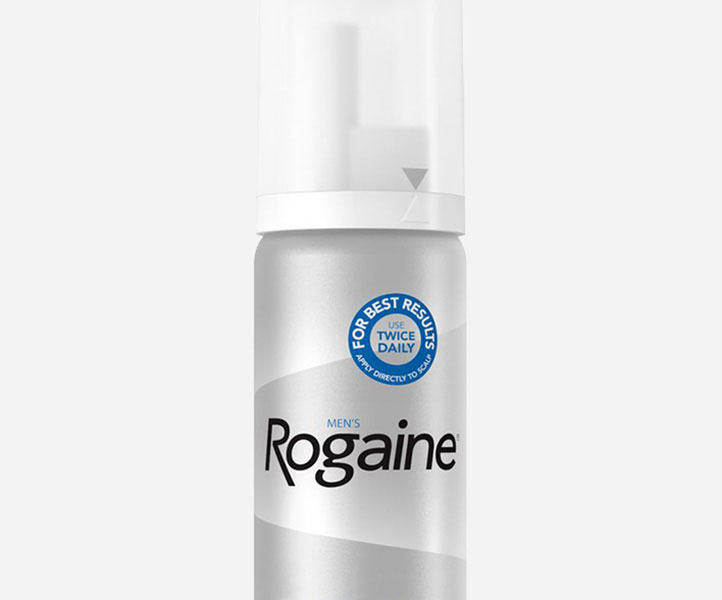 half of rogaine mousse can