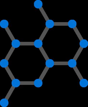 purple molecule hexagon structure