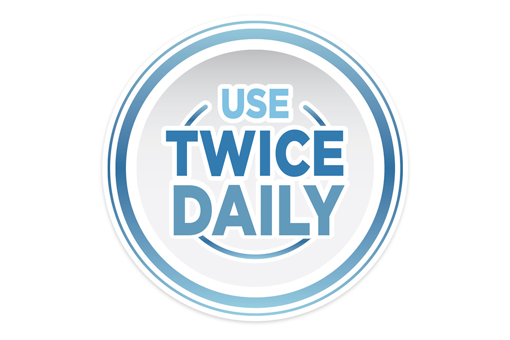 use twice daily instruction icon for rogaine
