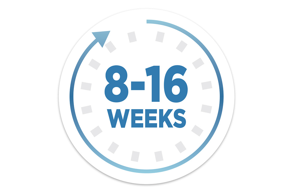 eight to six weeks icon for ROGAINE® use
