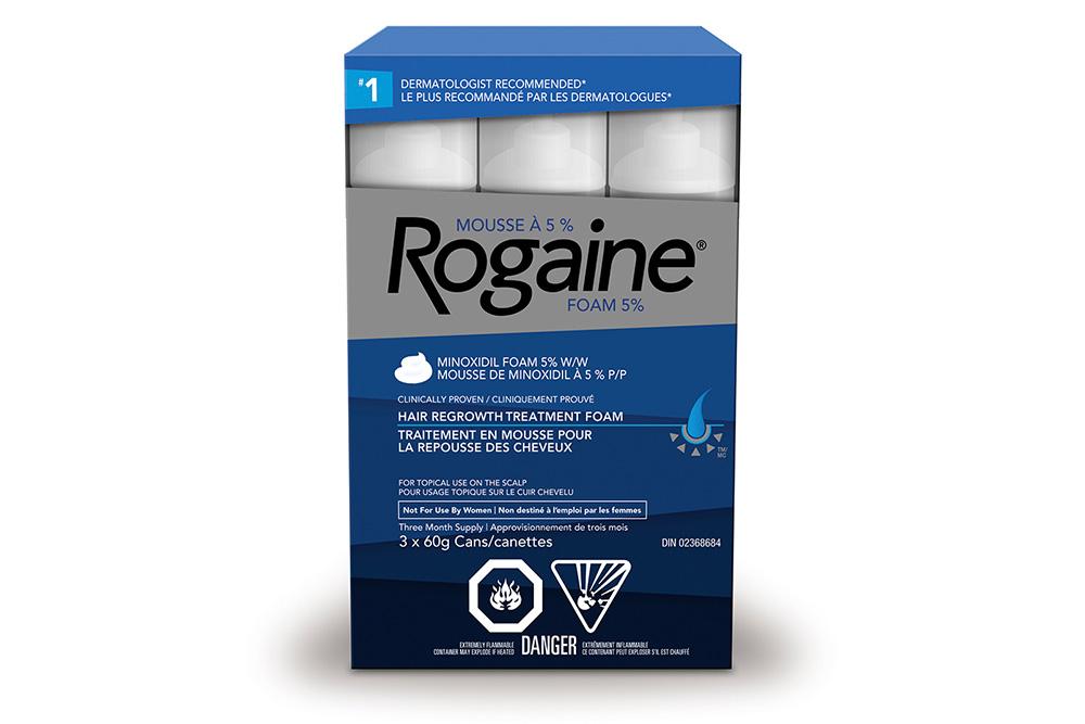 ROGAINE® minoxidil foam 5% hair growth treatment