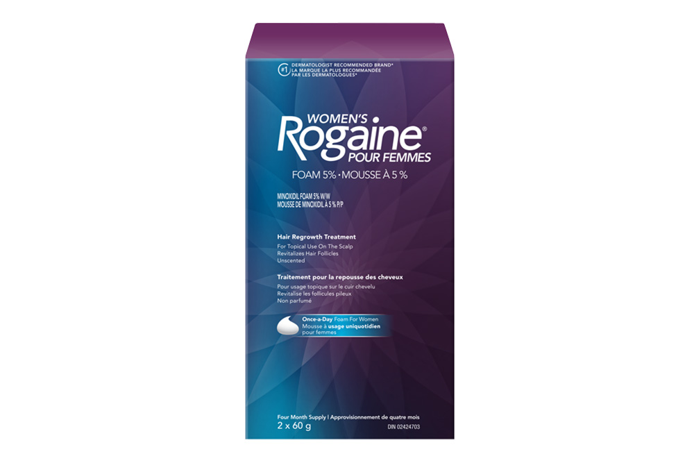 womens ROGAINE® for topical hair regrowth