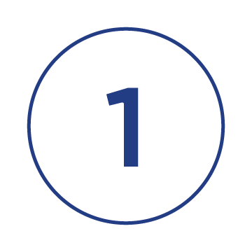 number one in a circle symbol